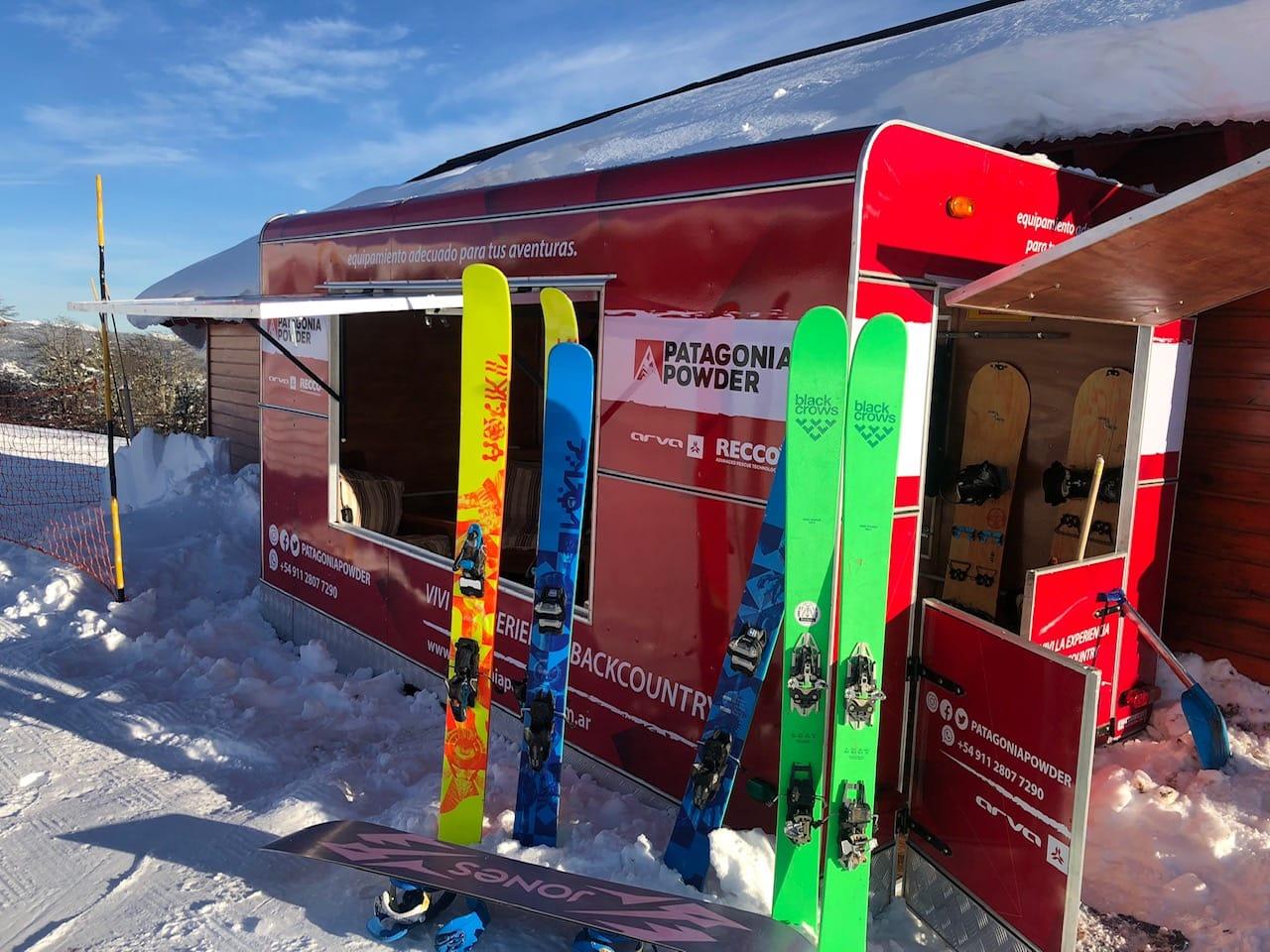 equipos de ski