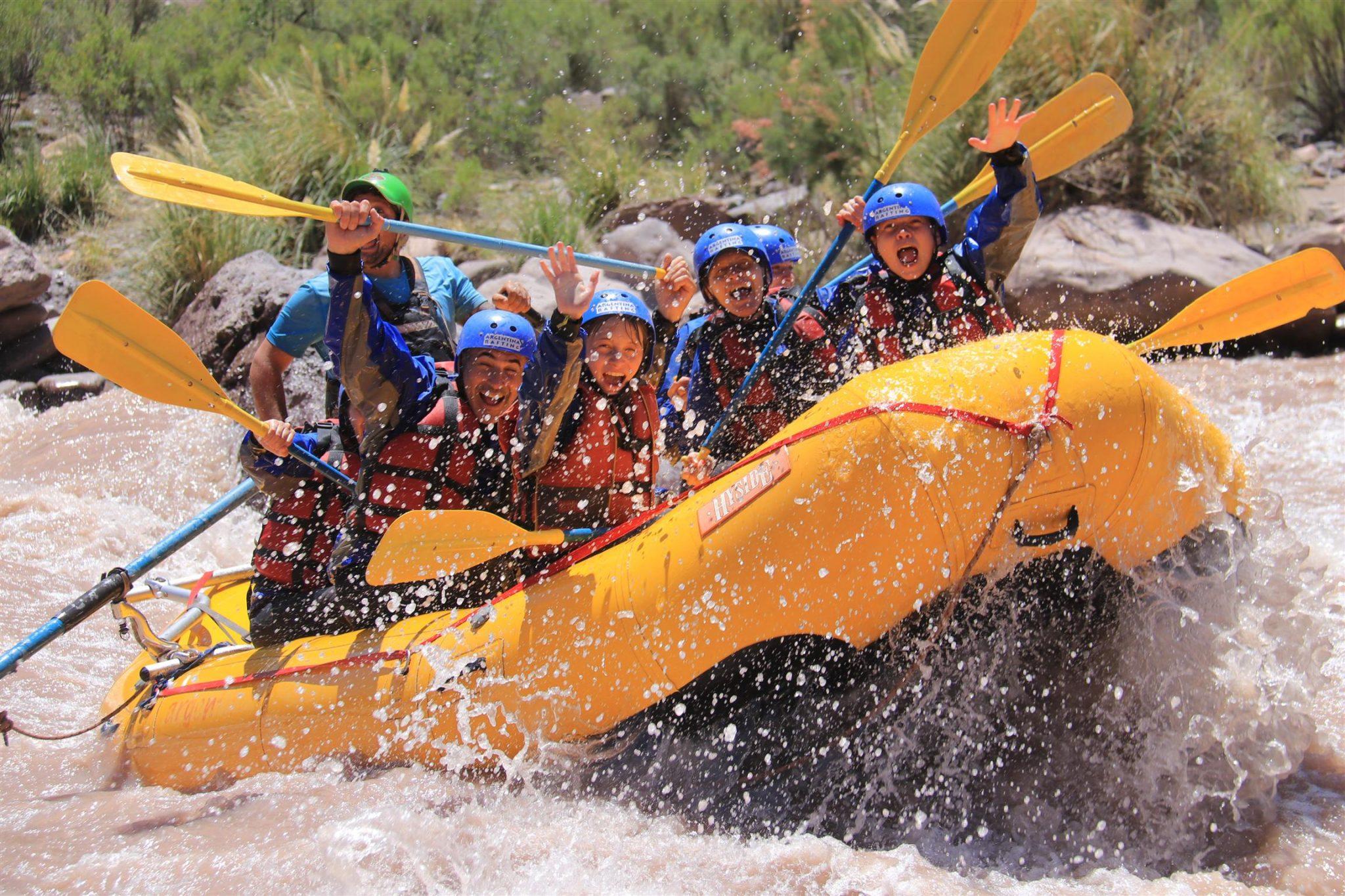 balsa rafting en rio mendoza